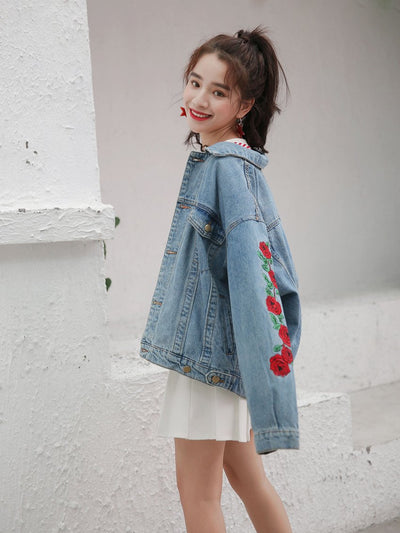 """FLOWERISTIC"" DENIM JACKET"