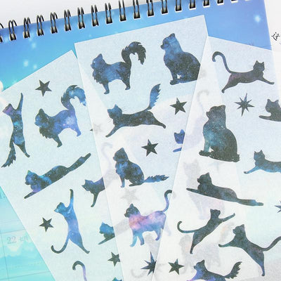 """GALAXY KITTY"" STICKERS"