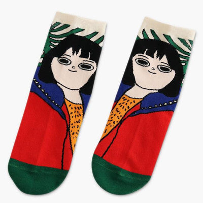 """CARTOON GIRL"" SOCKS"