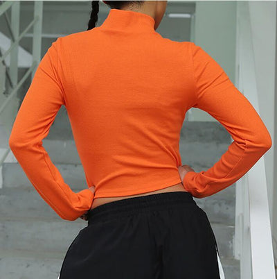 """ORANGE"" CROPPED LONG SLEEVE"