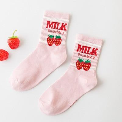 """STRAWBERRY MILK"" SOCKS"