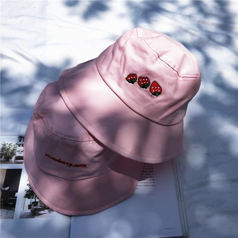 """STRAWBERRY"" BUCKET HATS"