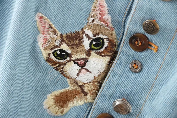 """DOG AND CAT DENIM"" OVERALLS"