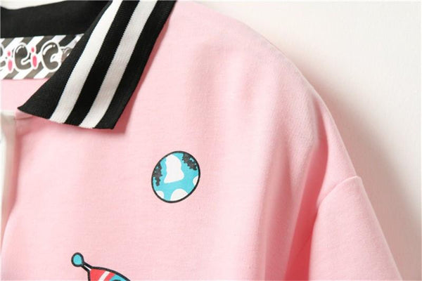 """SPACE SPECTACULAR"" COLLARED SHIRTS"