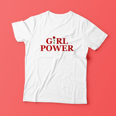 """GIRL POWER"" WHITE + PINK SHIRTS"