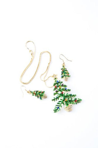 Christmas Tree Set (Necklace & Earrings)