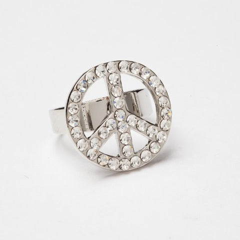 Adjustable Peace Ring Stone