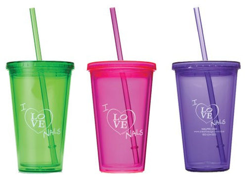 I Love Nails Tumbler, 16 oz. (Pink, Purple, or Green)                       MARK DOWN