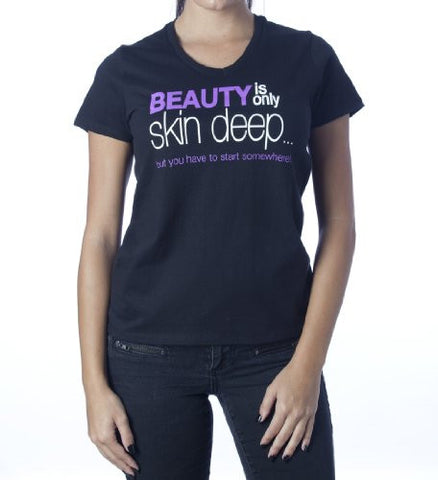 Beauty Is Only Skin Deep T-Shirt - V Neck