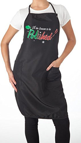 Tis the Season to be Polished Apron Long