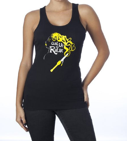Curl Up and Relax T-Shirt (Tank Top) Black
