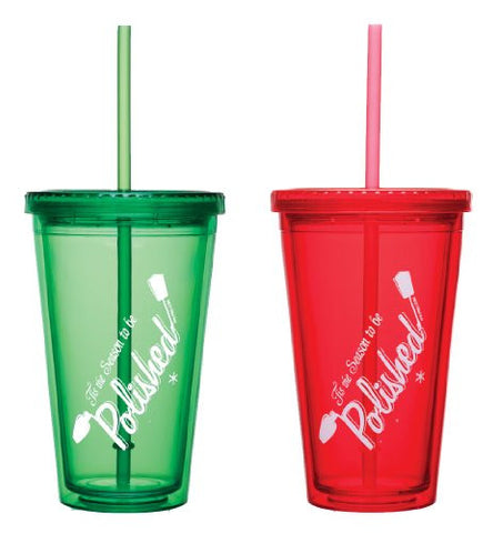 """'Tis the Season to Be Polished"" Holiday Tumbler"