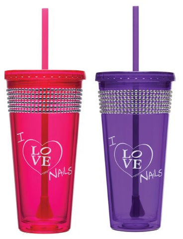 """I Love Nails"" Bling Tumbler, 20 oz."