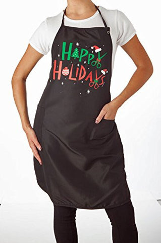 Happy Holidays Apron Long (Hair)