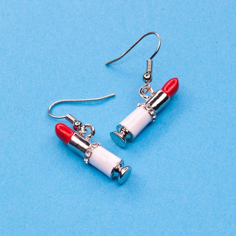 """Lipstick"" Earrings (Wire)"