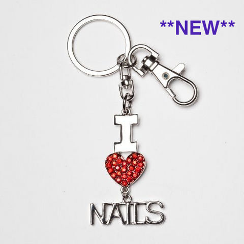 I 'Heart' Nails Key Chain