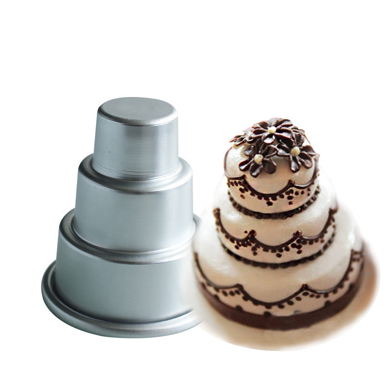 Mini ThreeTier Tower Shape Aluminum Alloy Baking Mold Cake - Mini Wedding Cake Mold