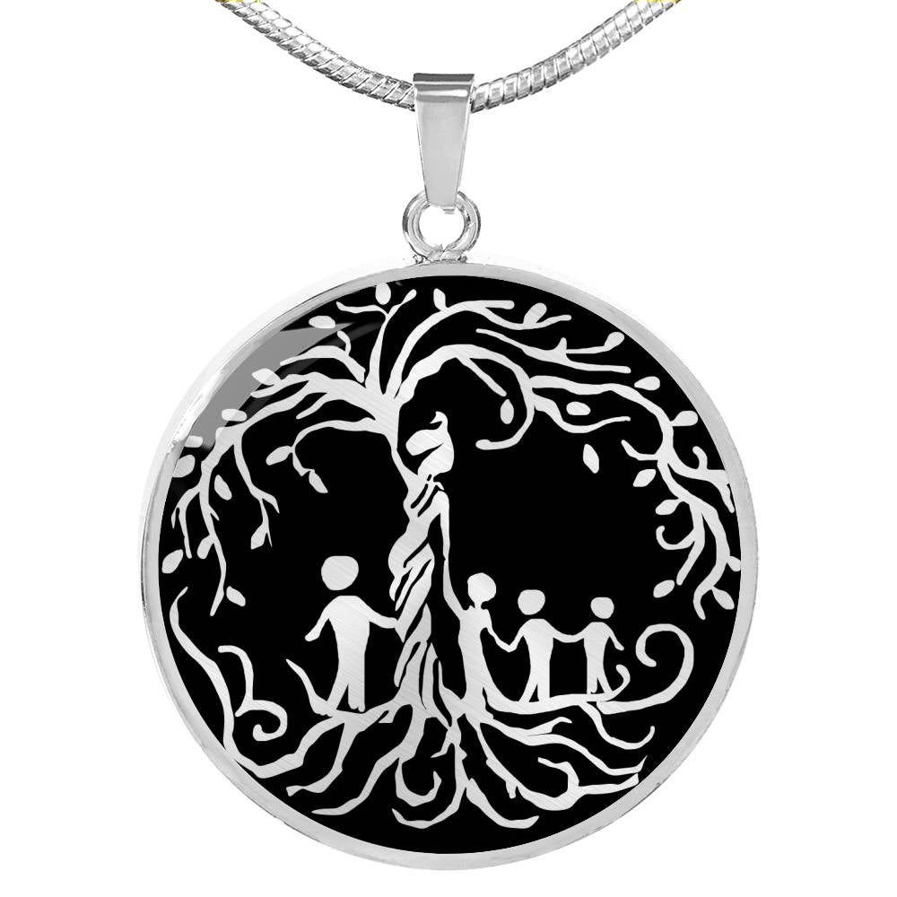 Mom of Four 'Tree of Life' Pendant Necklace