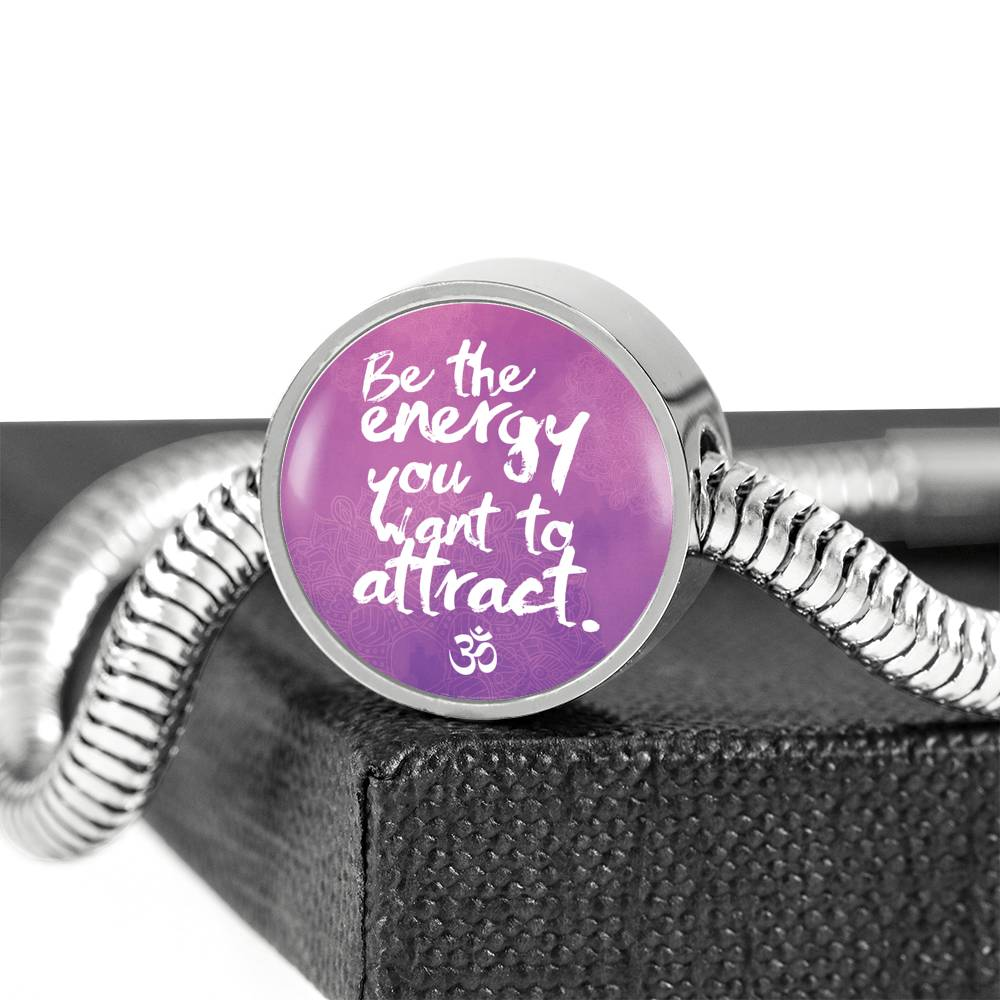Be The Energy Yoga Luxury Bracelet With Charm