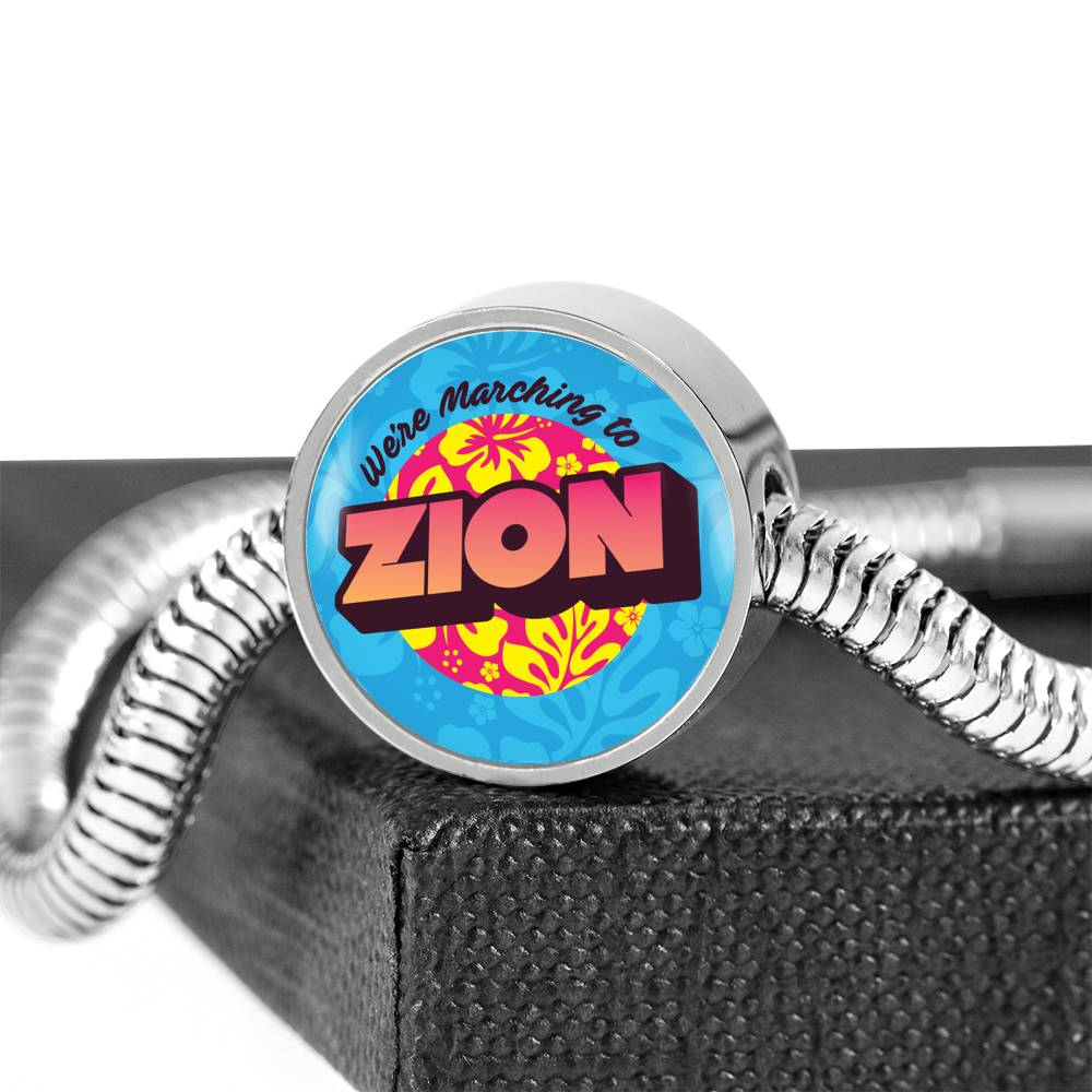 Marching to Zion Luxury Bracelet With Charm