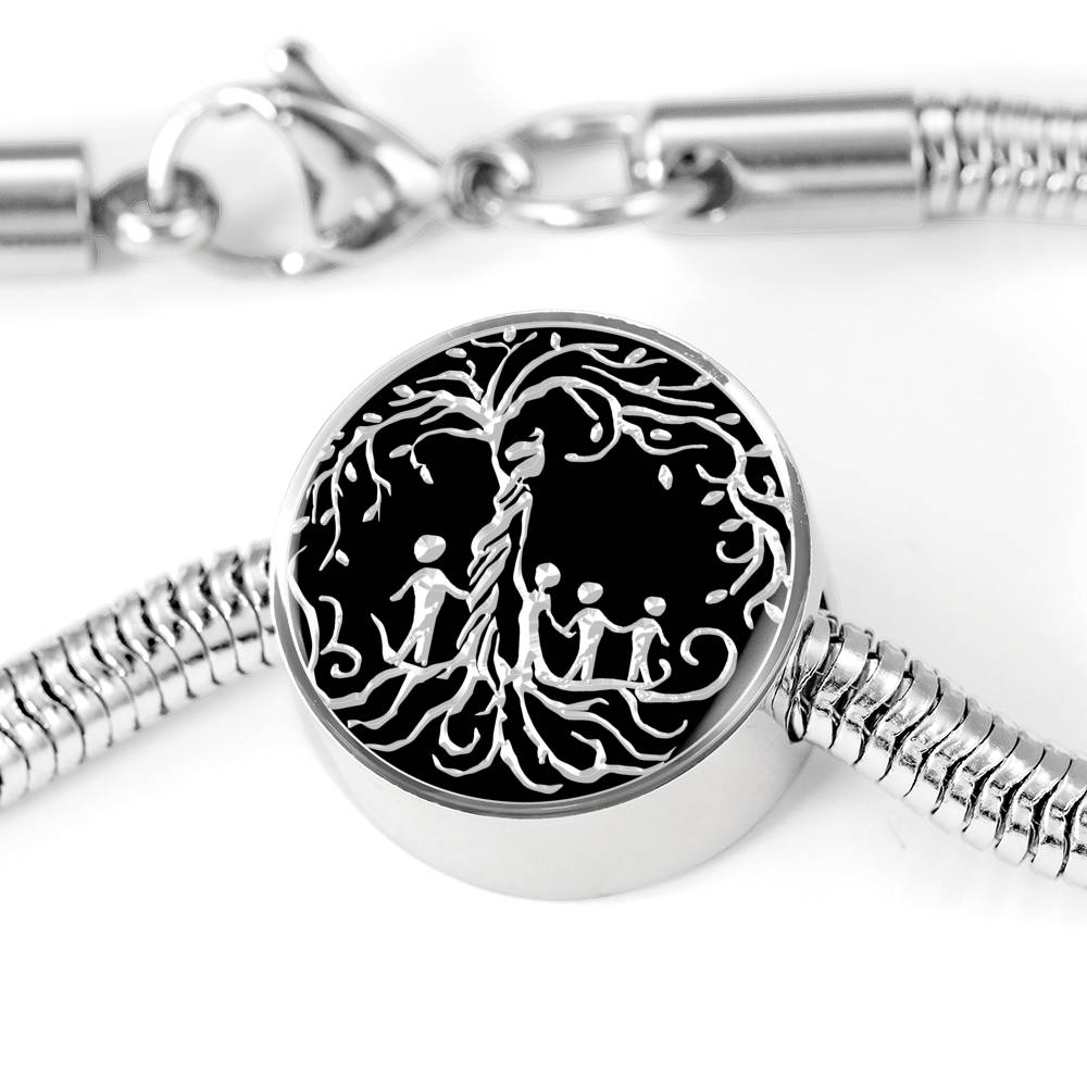 "Mom of Four Children ""Tree of Life"" Luxury Bracelet"