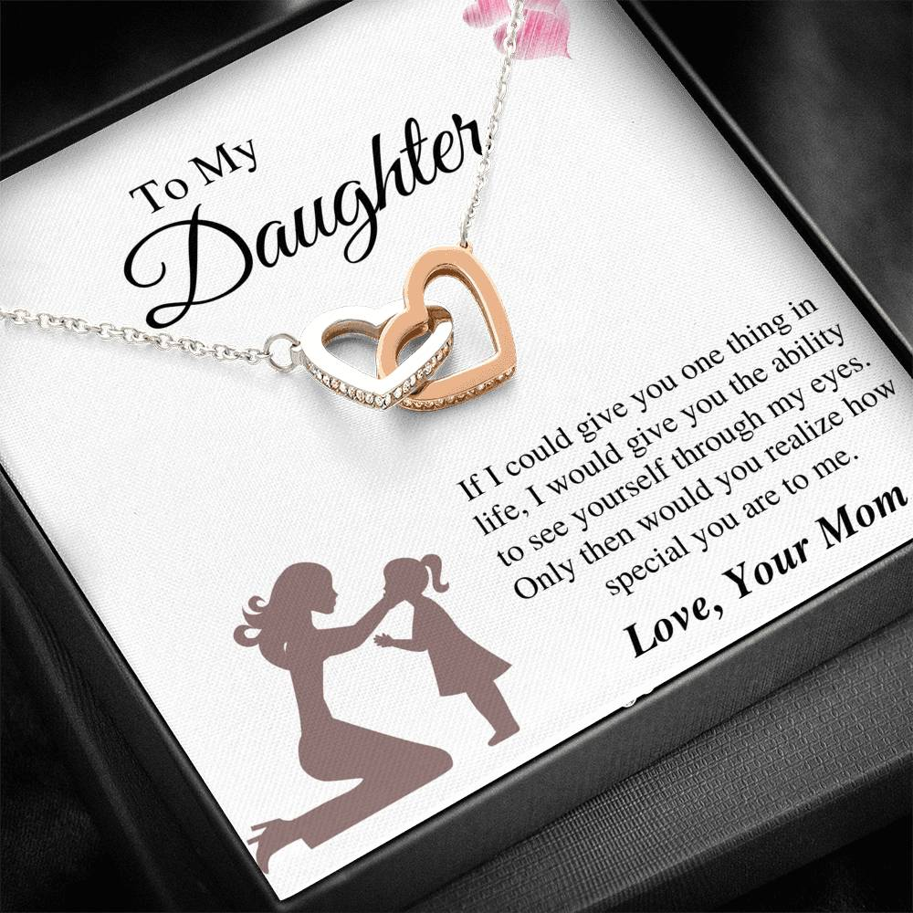 To Daughter From Mom - Special To Me Interlocking Necklace