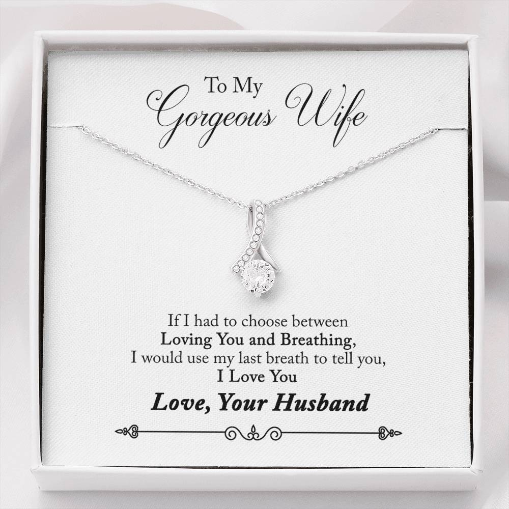 To My Gorgeous Wife Alluring Necklace