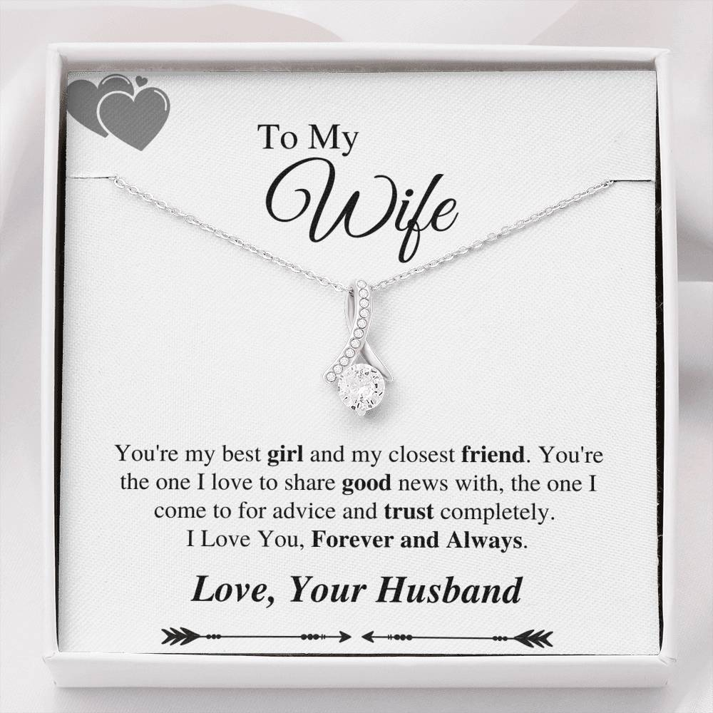 To My Wife, Forever and Always Alluring Necklace