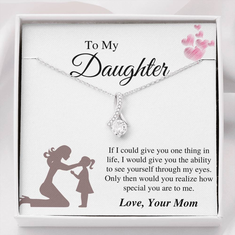 To Daughter From Mom - Special To Me Alluring Necklace