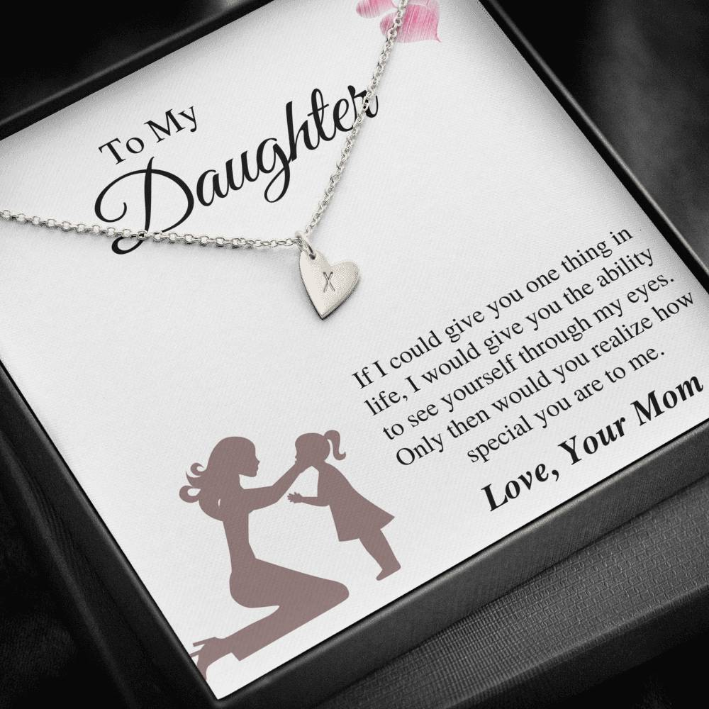 To Daughter From Mom - Special To Me Sweetest Hearts Necklace