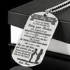 To My Son, Love Mom - Stainless Steel Dog Tag Necklace