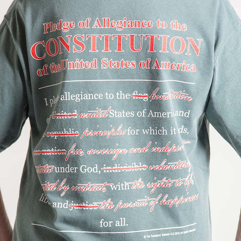New and Correct Pledge Allegiance Pocket T-shirt