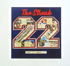 The Streak - Cleveland Indians Keepsake Print 8 x 8 - Celebrate Local, Shop The Best of Ohio