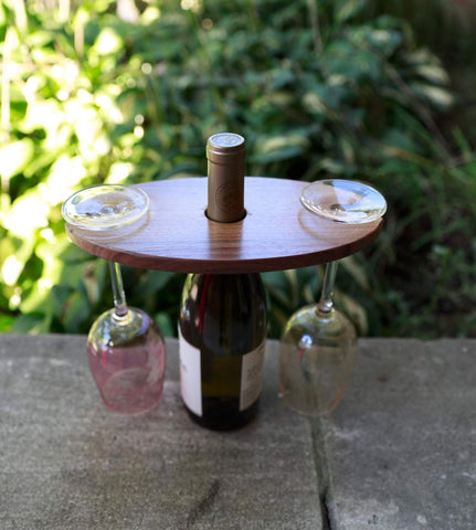 Wood In-Lay Wine Caddy - Celebrate Local, Shop The Best of Ohio