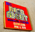 Ten Cent Beer Night Wood Mixed Media Print 8x8 - Celebrate Local, Shop The Best of Ohio