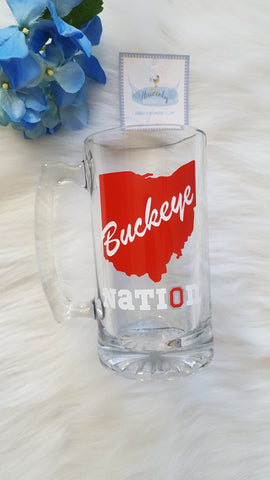 Buckeye Nation Glass Beer Mug - Celebrate Local, Shop The Best of Ohio