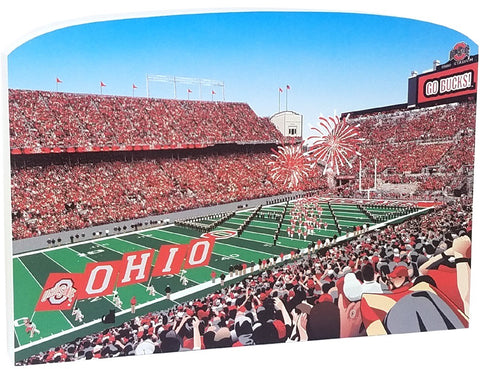 OSU Game Day at The Shoe Wood Shelf Sitter - Celebrate Local, Shop The Best of Ohio