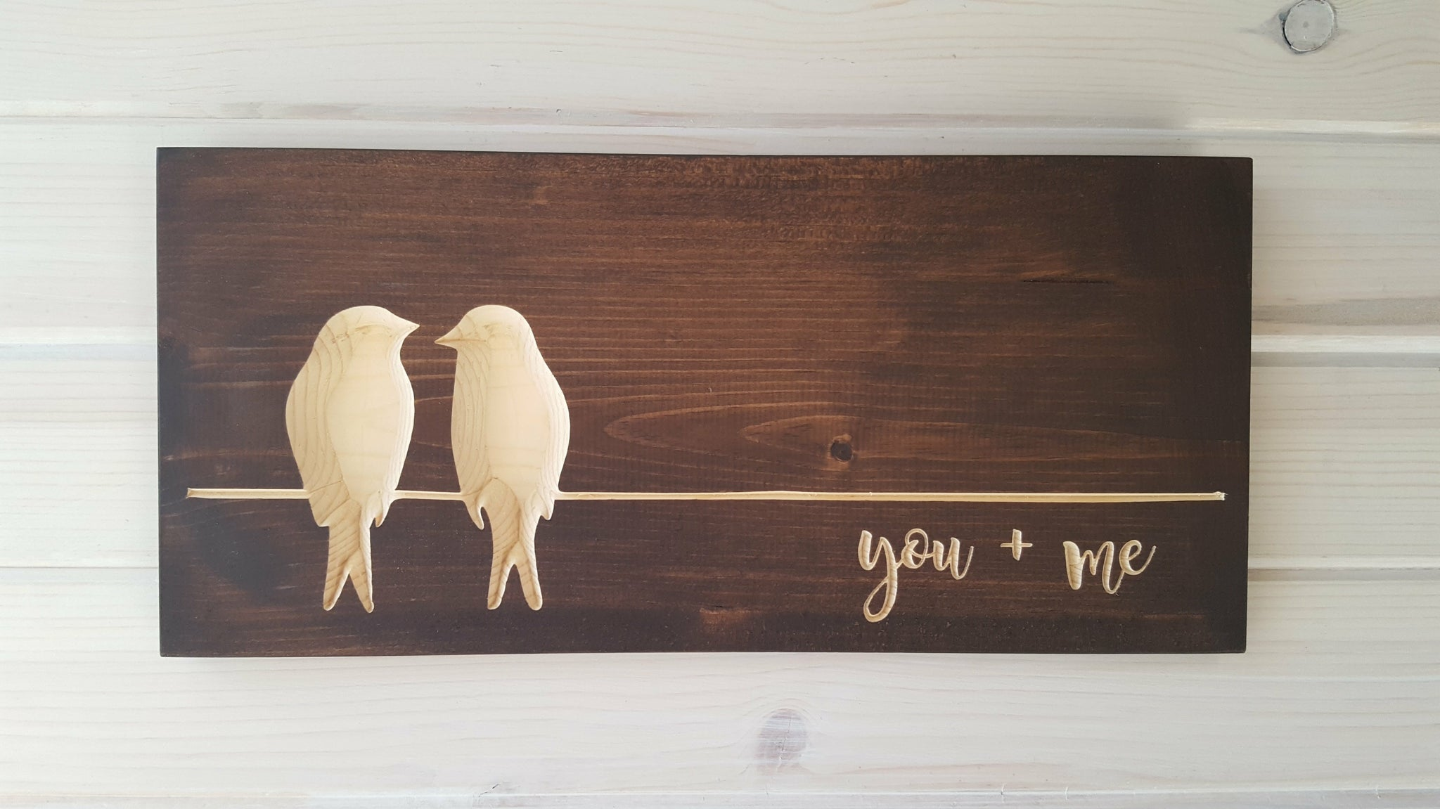 You Me Love Birds Wood Wall Art 7 in x 16 in - Celebrate Local, Shop The Best of Ohio