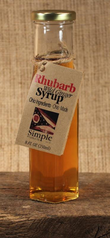 Rhubarb Wild Ginger Syrup - Celebrate Local, Shop The Best of Ohio