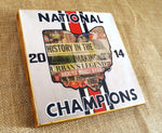 Ohio State National Champions - Mixed Media Wood Panel - 8x8 - Celebrate Local, Shop The Best of Ohio