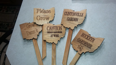 Ohio Shaped Garden Signs - Celebrate Local, Shop The Best of Ohio