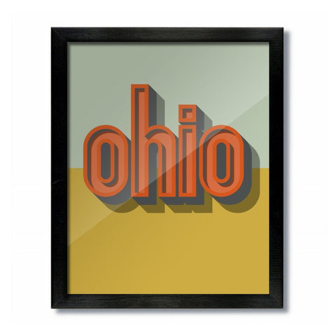 Vintage Ohio Shadow Print - Celebrate Local, Shop The Best of Ohio