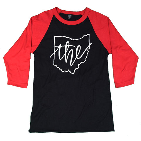 The Place To Be Raglan Sleeve T-Shirt - Celebrate Local, Shop The Best of Ohio