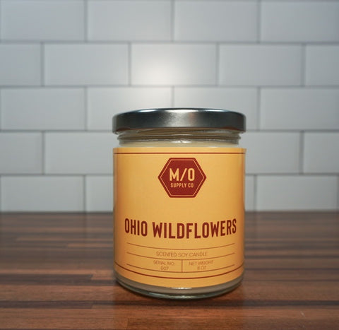 Ohio Wildflowers Soy Jar Candle 8 oz