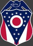Police Badge Ohio State Flag Vinyl Decal - Celebrate Local, Shop The Best of Ohio