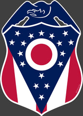 Police Badge Ohio State Flag Vinyl Decal