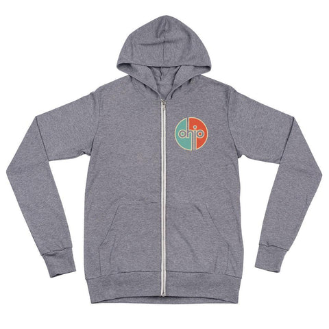 Ohio Retro Lightweight Full Zip Hoodie - Celebrate Local, Shop The Best of Ohio