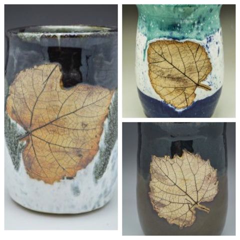 Grape Leaf Hand Thrown Wine Chillers - Celebrate Local, Shop The Best of Ohio