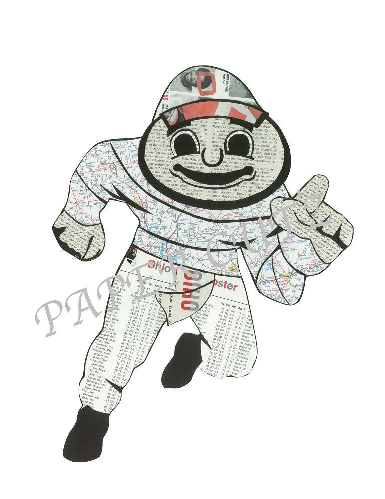 Brutus Buckeye Vintage Print 11 x 17 - Celebrate Local, Shop The Best of Ohio