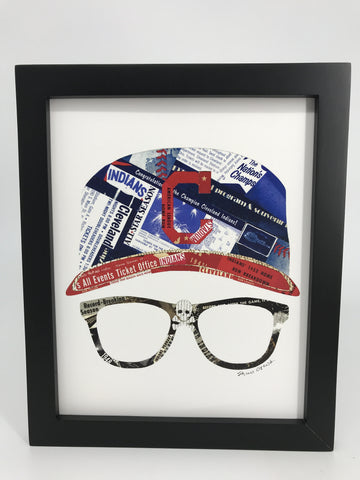 Cleveland Indians Wild Thing  Collage Print - Celebrate Local, Shop The Best of Ohio